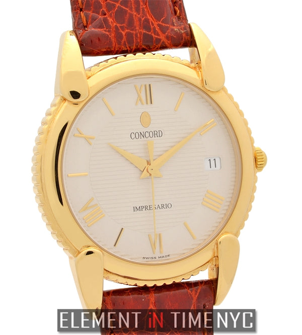 36mm 18k Yellow Gold Silver Dial