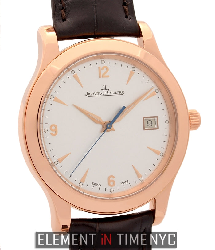 Date 18k Rose Gold 40mm Silver Dial