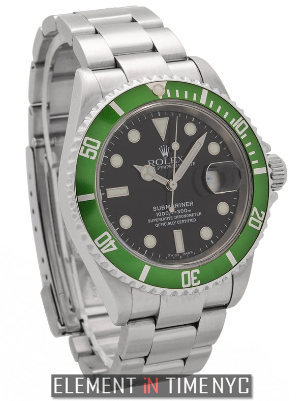50th Anniversary Green Stainless Steel Black Dial