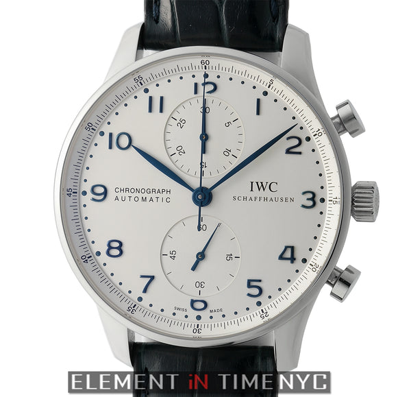 Chronograph Stainless Steel 41mm Silver Dial Blue Arabics 2011