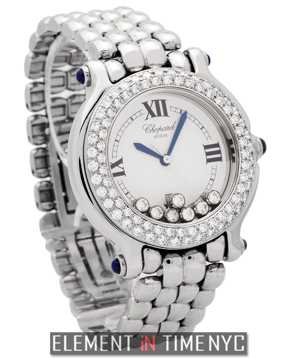 Classic Round 7 Floating Diamonds Diamond Bezel