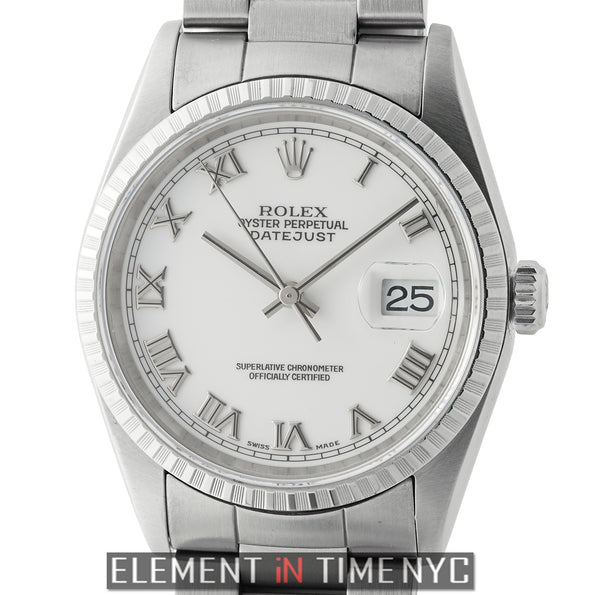 Stainless Steel 36mm White Roman Dial U Serial 1999