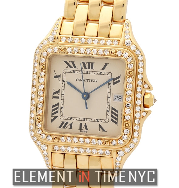 Panthere Large 28mm 18k YG With Diamonds