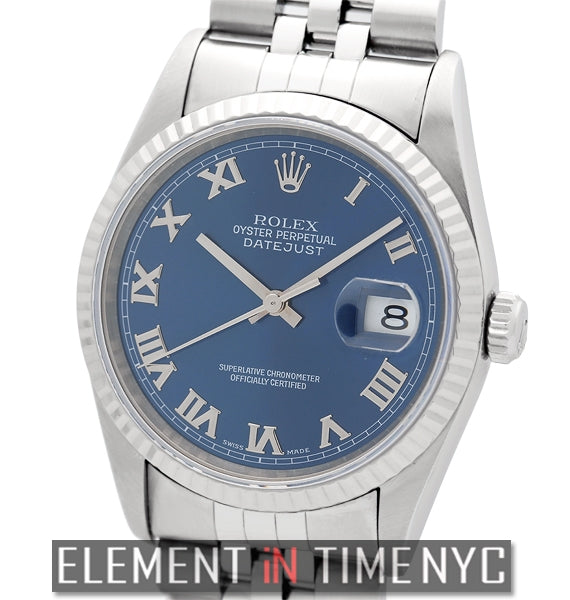Stainless Steel Blue Roman Dial