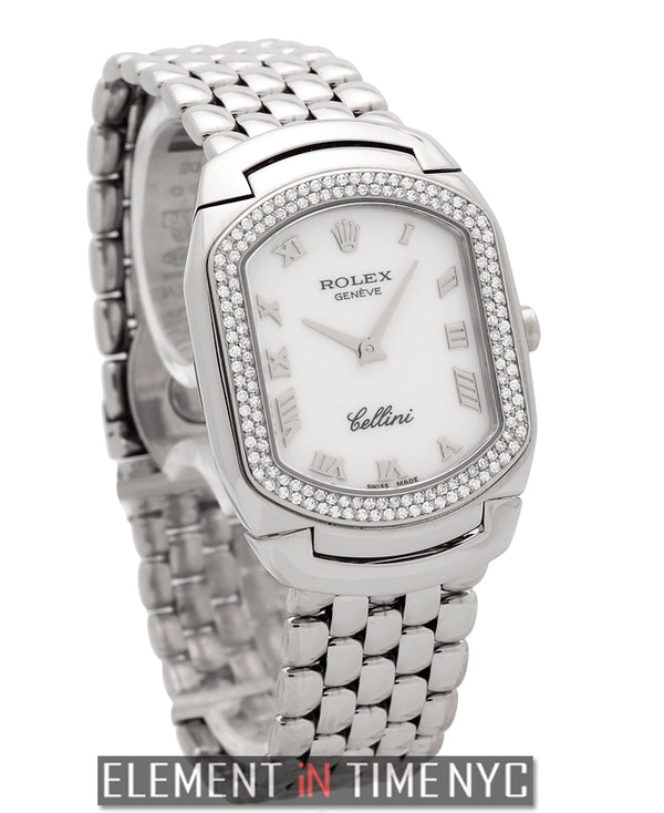 Cellissima 18k White Gold Diamond Bezel