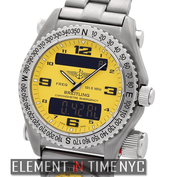 UTC SuperQuartz Titanium 43mm Yellow Dial