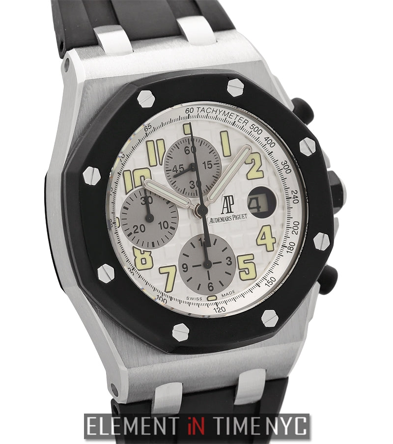 Rubber Clad Chronograph White Dial