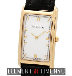 18k Yellow Gold Dress Watch White Dial 24mm