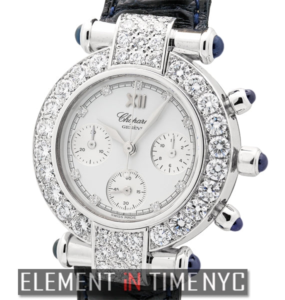 Chronograph 18k White Gold Diamond Bezel