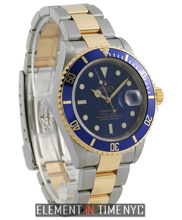 Steel & Yellow Gold Blue Dial