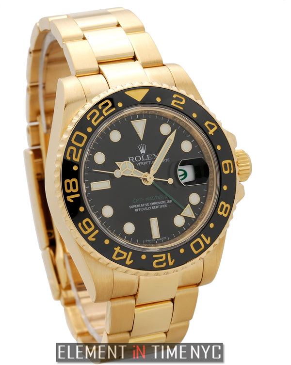 Ceramic 18k Yellow Gold Black Dial
