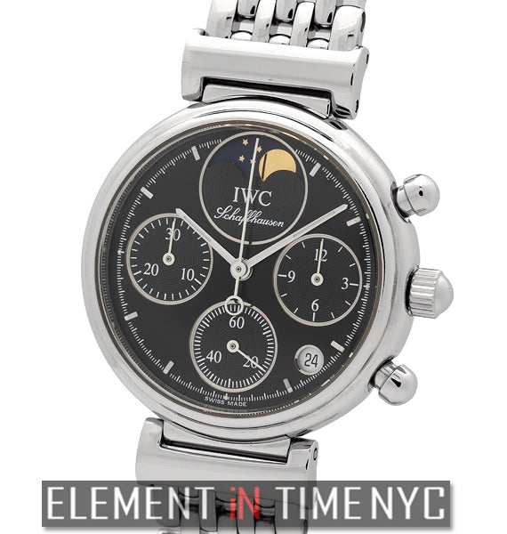 Da Vinci Ladies Chronograph Moonphase Black Dial