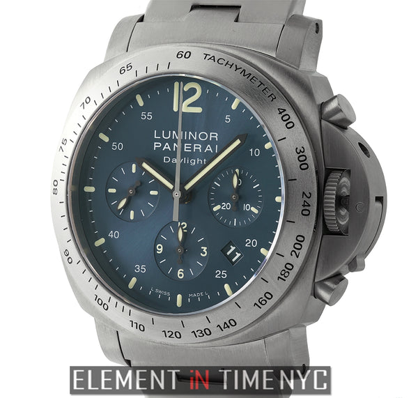 Luminor Daylight Chronograph Titanium Blue Dial L Series
