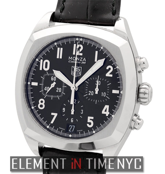 Calibre 36 Chronograph Stainless Steel 38mm Black Dial