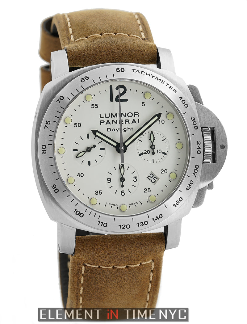 Luminor Daylight Chronograph Steel 44mm Ivory Dial J Series 2008