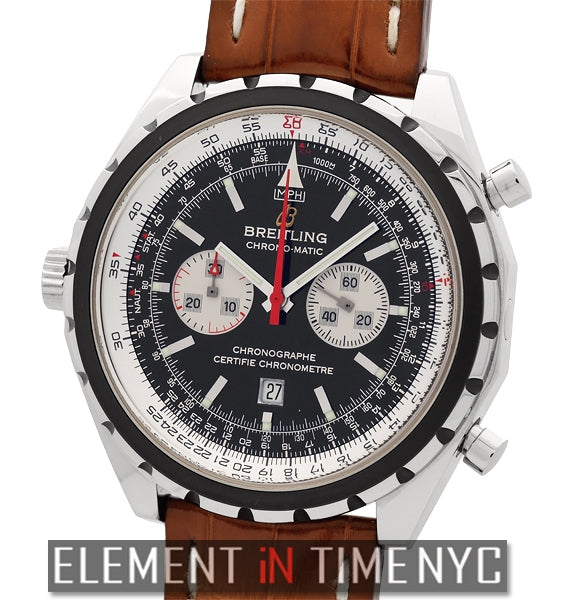 Chrono-Matic Chronograph Stainless Steel Black Dial 44mm