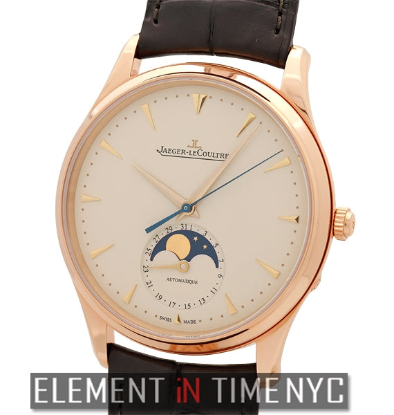 18k Rose Gold Ultra Thin Moonphase Beige Dial 39mm