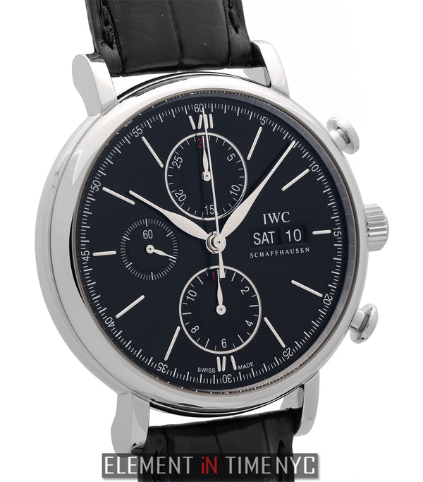 Chronograph Stainless Steel Black Dial 42mm