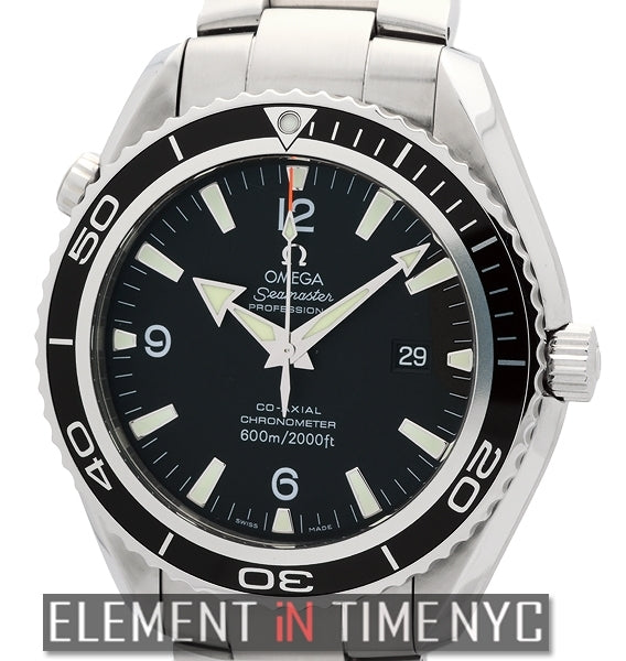 Planet Ocean Stainless Steel Black Dial 45mm