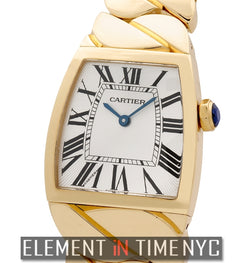 18k Yellow Gold Silver Dial 28mm