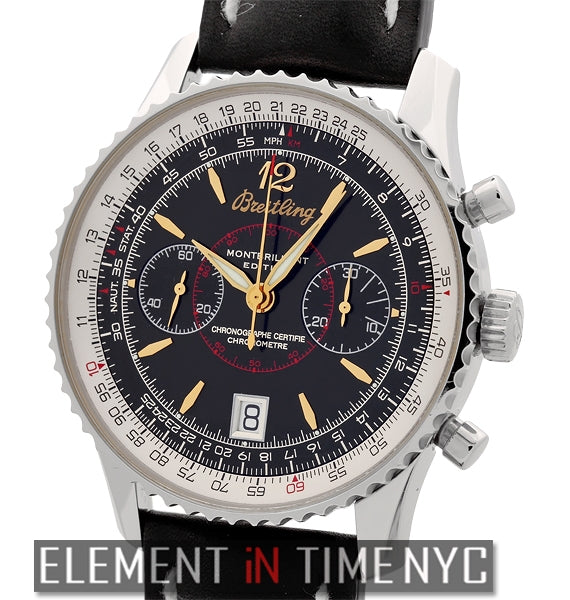 Montbrillant LTD Chronograph Stainless Steel Black Dial 43mm