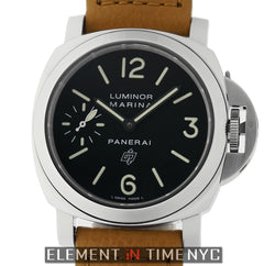 Luminor Marina Logo Steel Black Dial 44mm O Series