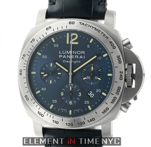Daylight Chronograph Titanium Blue Dial 44mm L Series