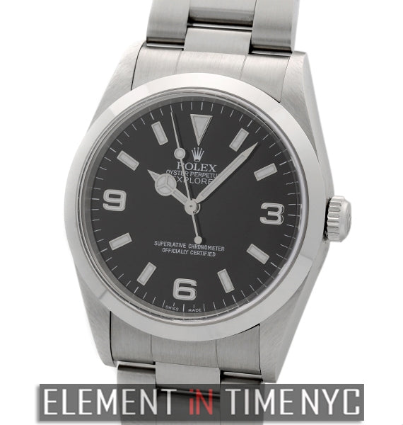 Stainless Steel Black Dial 1999 36mm