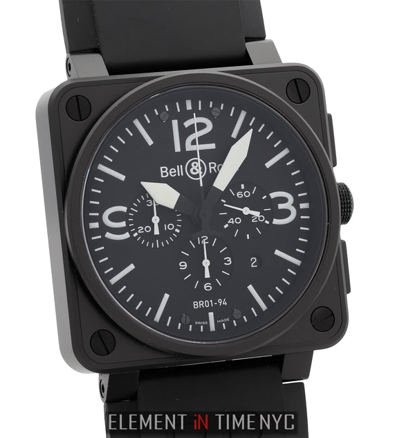 Carbon Chronograph Matte Black PVD FInish