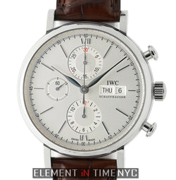 Chronograph Stainless Steel Silver Dial