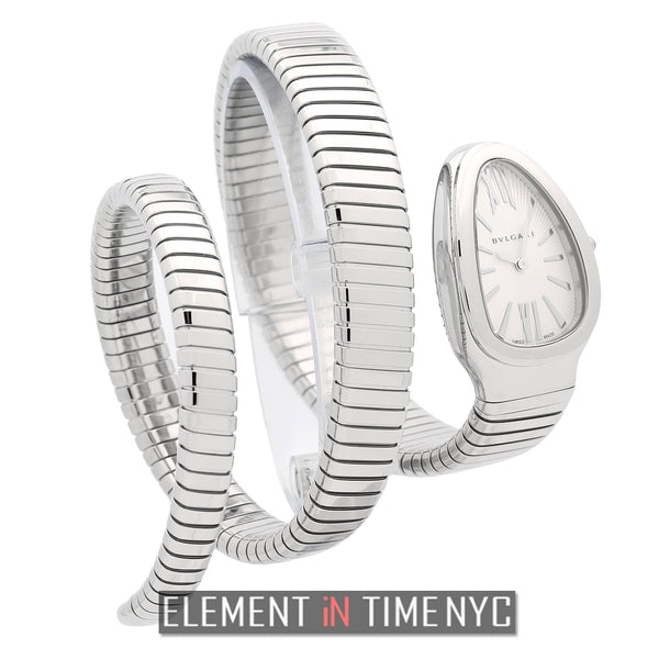Stainless Steel Tubogas Silver Dial Double Twirl