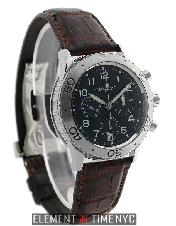 Type XX Transatlantique 39mm Chronograph Black Dial