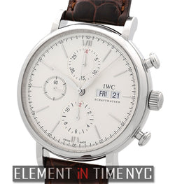 Chronograph Stainless Steel Silver Dial 42mm