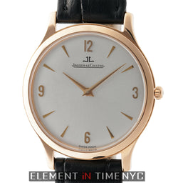 Master Ultra Thin 18k Rose Gold 34mm Manual Wind