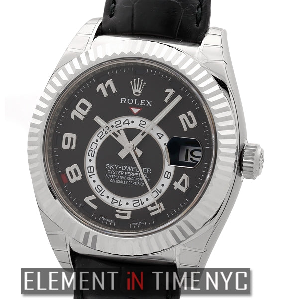 18k White Gold Black Dial 42mm