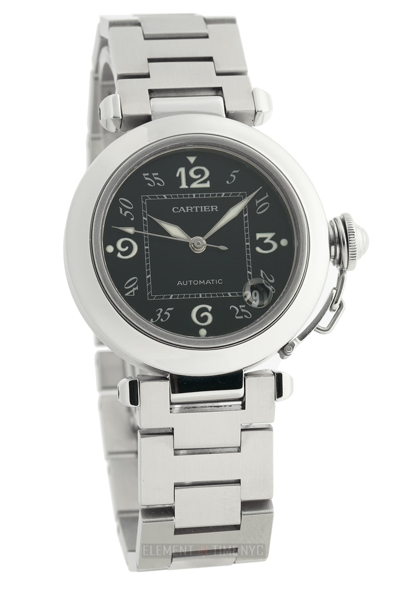 Pasha C 35mm Stainless Steel Black Dial Automatic