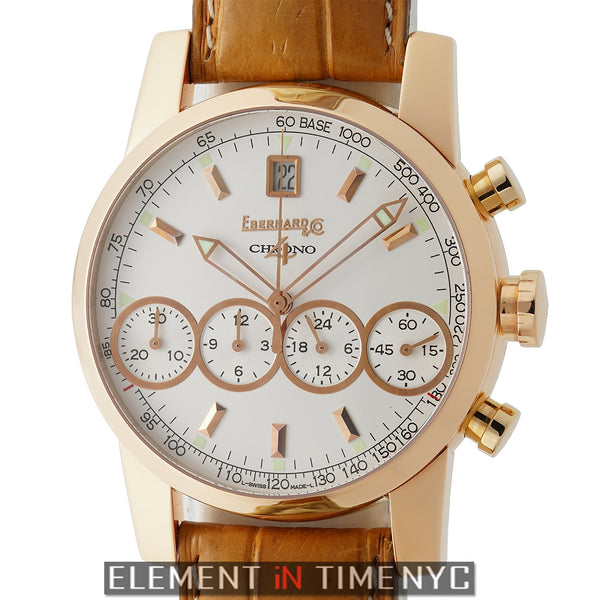 Chronograph 18k Rose Gold 40mm Silver Dial