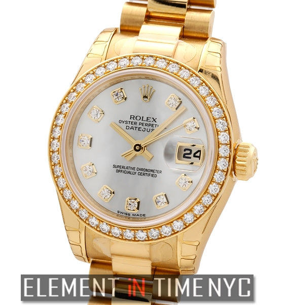 Lady President Diamond Bezel & MOP Diamond Dial