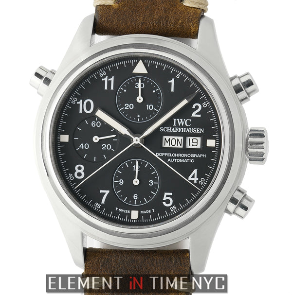 Pilot Doppel Chronograph Stainless Steel 42mm Black Dial