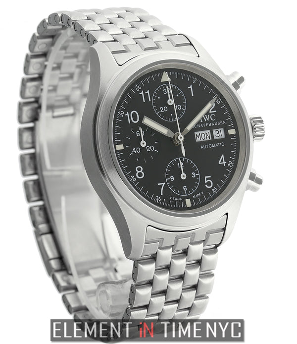 Pilot Chronograph Stainless Steel Black T Swiss Dial