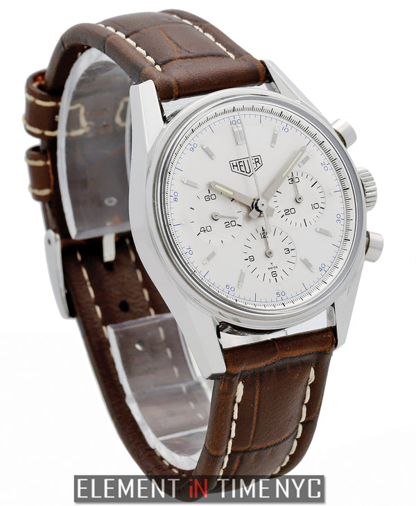 Vintage 1964 Re-Edition Chronograph 35mm Silver Dial Lemania Movement