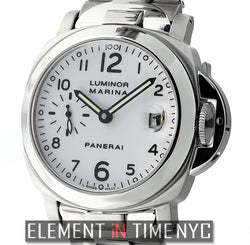 Luminor Marina 40mm Stainless Steel  White Dial