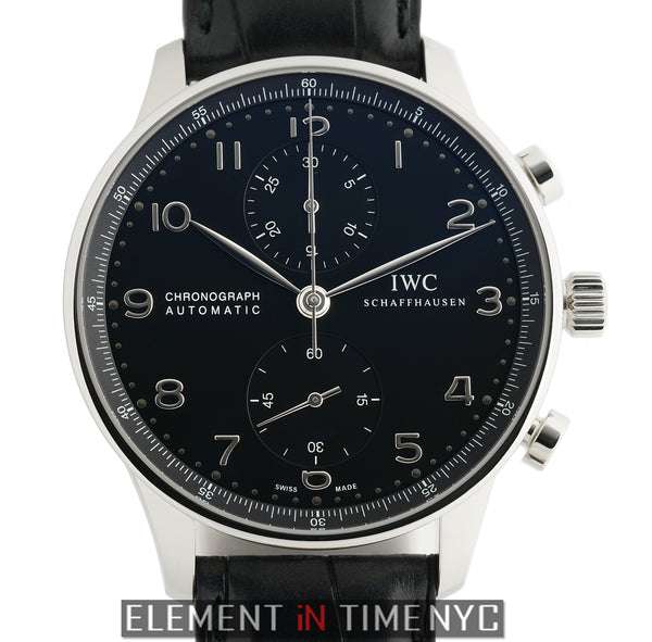 Chronograph Steel 41mm Black Dial On Deployment