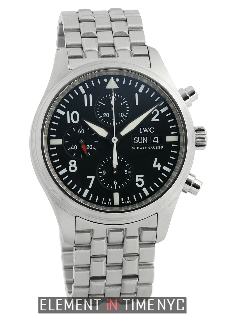 Pilot Chronograph Stainless Steel 42mm Black Dial