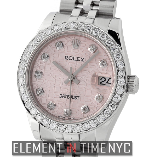 31mm Diamond Bezel & Pink Jubilee Diamond Dial Circa 2014