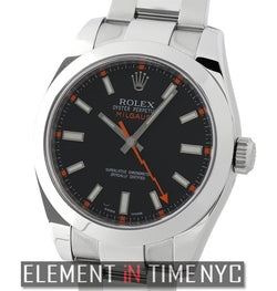 Stainless Steel Black Dial