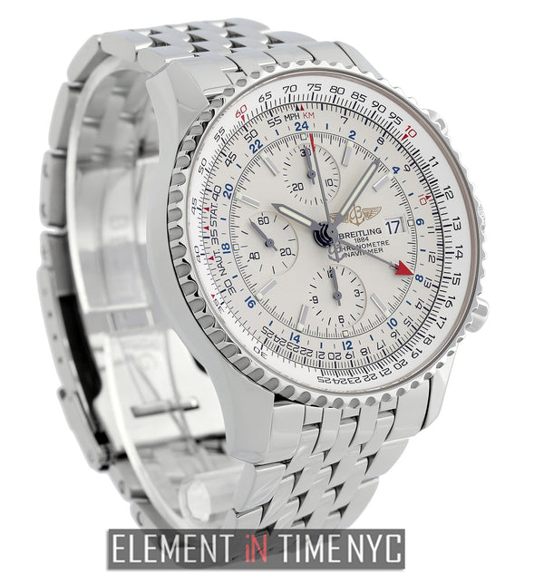 Navitimer World 46mm Stainless Steel Silver Dial
