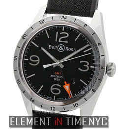 GMT 24H Stainless Steel Black Dial 42mm