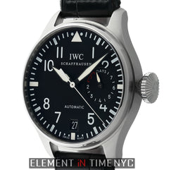 Big Pilot 7 Day Power Reserve Stainless Steel 46mm Black Dial