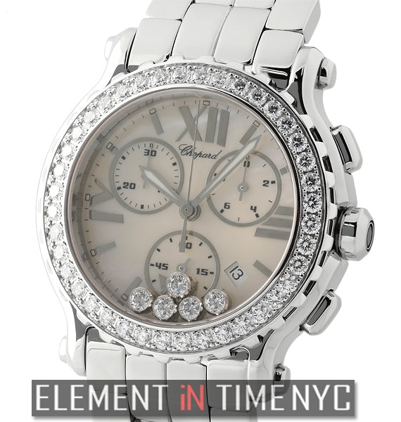 Chronograph 5 Floating Diamonds Factory Diamond Bezel